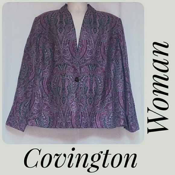 Covington Woman Jackets & Blazers - Covington Woman Plus-Size Unconstructed Blazer 22W